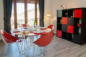 Apartment at La Turbie, Cote d'Azur, dining area